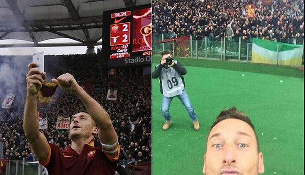 Francesco Totti revive su selfie ante la Lazio [VIDEO] / Foto: twitter