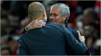 Manchester United vs. Manchester City: saludo de Mourinho y Guardiola
