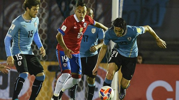 Chile vs. Uruguay EN VIVO ONLINE por las Eliminatorias Rusia 2018