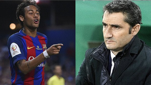Image result for valverde and Neymar