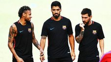 Barcelona: Neymar, Luis Suárez y Lionel Messi en divertido reto [VIDEO]