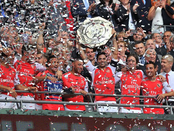 Arsenal goleó 3-0 al Manchester City y se llevó la Community Shield / Foto: AFP