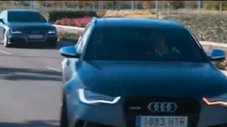 Cristiano Ronaldo le gana carrera de autos de lujo a James Rodríguez [VIDEO]