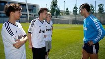 Cristiano Ronaldo se encontró con los integrantes de One Direction
