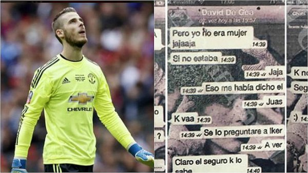 ​Estos WhatsApps implican a De Gea en escándalo sexual [FOTOS] / Foto: Twitter
