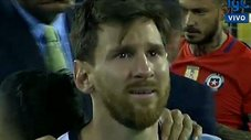 Lionel Messi y el llanto desconsolado tras perder la final [VIDEO]