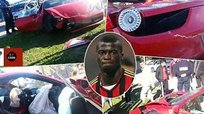 Mira como quedó el Ferrari de Mbaye Niang tras su accidente [VIDEO]