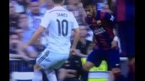 Mira la bicicleta de Neymar contra James Rodríguez - Real Madrid vs Barcelona [VIDEO]
