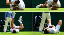 Novak Djokovic sufrió terrible caída en Wimbeldon [VIDEO]