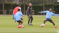 Pep Guardiola y su primer entrenamiento con Manchester City [VIDEO]