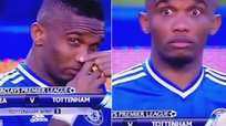 Premier League: Samuel Eto'o y su curiosa cara tras usar inhalador [VIDEO]