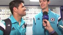 Premier League: Thibaut Courtois es el traductor de Diego Costa en Chelsea [VIDEO]