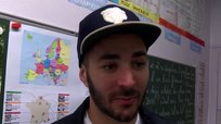 ​Real Madrid: Karim Benzema volvió a su antiguo colegio [VIDEO]