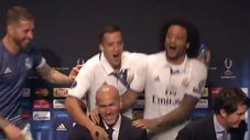 Real Madrid: Zidane fue sorprendido en conferencia de prensa [VIDEO]