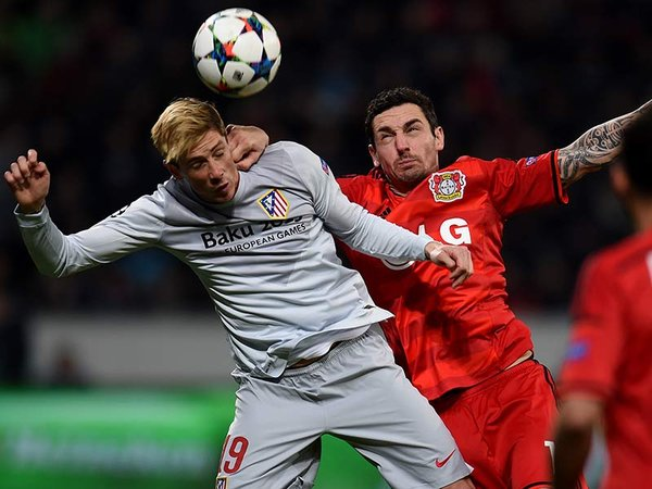 Atlético de Madrid vs Bayer Leverkusen. FOTO: AFP