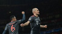 Bayern Munich venció 1-4 al Arsenal por los octavos de final de la Champions League