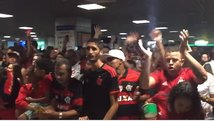 Flamengo: Guerrero y Trauco recibidos por mar de gente en Bahía [VIDEO]