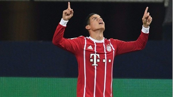 James Rodríguez marcó su primer gol con el Bayern Munich [VIDEO]