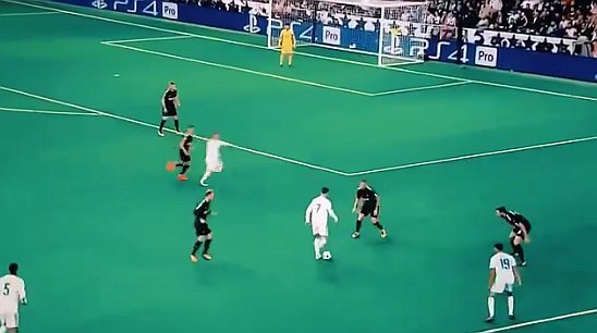 El atacante luso anotó el único gol del Real Madrid en el partido.