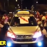 YouTube: hinchas peruanos tomaron capital chilena tras clasificación [VIDEO]