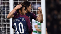 PSG destrozó 7-1 al Celtic con dobletes de Neymar y Cavani [VIDEO]