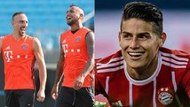 James Rodríguez 'trolea' a Arturo Vidal y Franck Ribéry [VIDEO]
