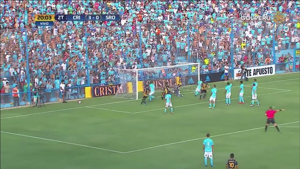 Sporting Cristal: Aponzá descontó para Sport Rosario [VIDEO]