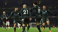Manchester City goleó 0-3 a Arsenal por la Premier League