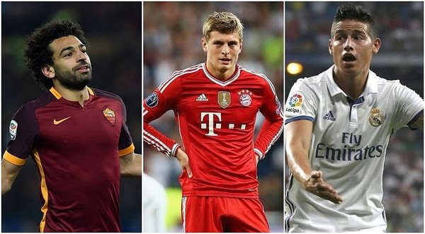 Champions League: Salah vuelve a Roma, James a Madrid y Kroos a Munich / Foto: twitter