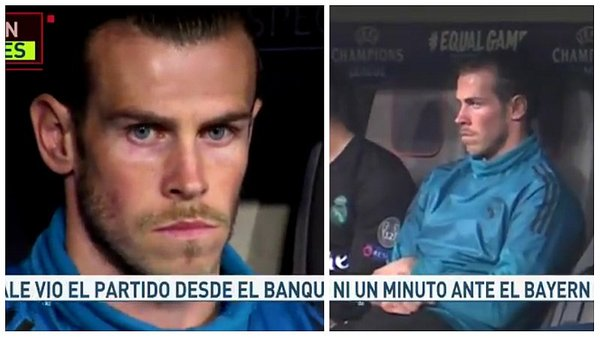 Gesto de Gareth Bale que refleja no estar feliz en el Real Madrid (VIDEO)