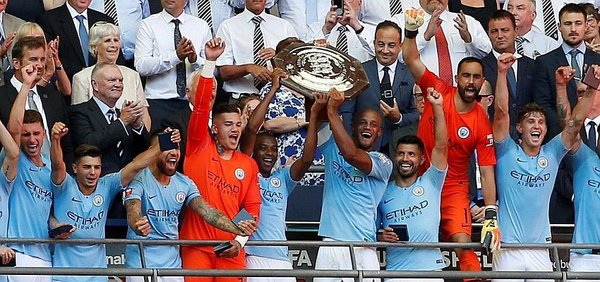 Manchester City campeón de la Community Shield 2018