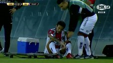 Alianza Lima vs. Palestino: jugador chileno sale lesionado al minuto 14 [VIDEO]